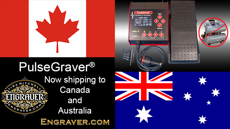 PulseGraver Shipping to Canada and Australia
